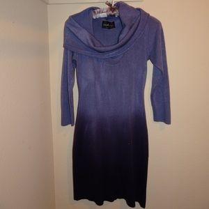 Purple Ombré Sweater Dress